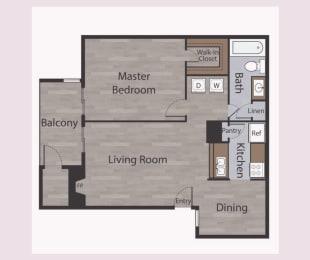 A2 1 Bed 1 Bath Apartments in Mesh II at Mesh Properties, Austin, Texas