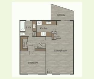 A2 1 Bed 1 Bath Apartments in Mesh I at Mesh Properties, Texas, 78741