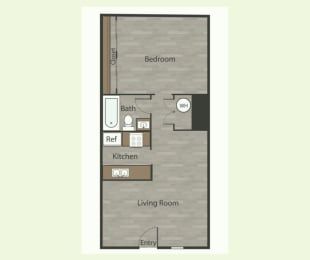 A3 1 Bed 1 Bath Apartments in Mesh I at Mesh Properties, Austin, TX, 78741