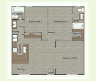 B1 2 Bed 1 Bath Apartments in Mesh I at Mesh Properties, Austin, 78741