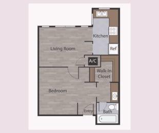 E1 Studio Apartments in Mesh II at Mesh Properties, Austin, TX
