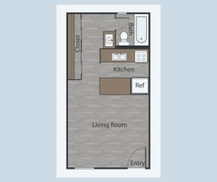 E2 Studio Apartments in Mesh III at Mesh Properties, Austin, TX, 78741