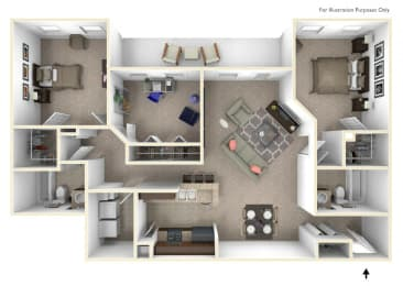 3-Bed/2-Bath, Donovan Floor Plan at Irene Woods Apartments, Tennessee, 38017