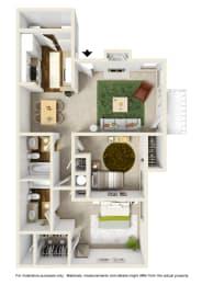 The Dogwood Floor Plan at Willow Ridge Apartments, North Carolina, opens a dialog