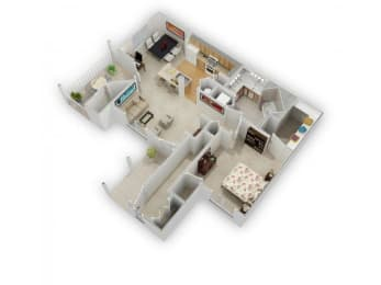 Dogwood Floorplan at Farmington Lakes Apartments Homes, Oswego, IL, 60543, opens a dialog