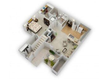 Hawthorn Floorplan at Farmington Lakes Apartments Homes, Oswego, IL, 60543, opens a dialog