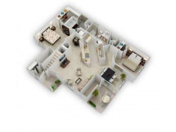 Willow Floorplan at Farmington Lakes Apartments Homes, Oswego, IL, 60543, opens a dialog
