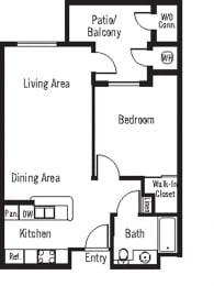 Merlot Floor Plan at 55+ FountainGlen Terra Vista, Rancho Cucamonga, CA, 91730