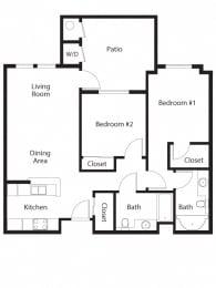 Cabernet Floor Plan at 55+ FountainGlen Terra Vista, Rancho Cucamonga, CA