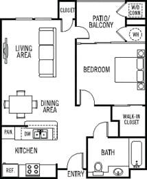 Fiesta Floor Plan at 55+ FountainGlen Valencia, Valencia, CA, 91354