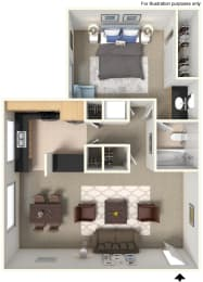 Floor Plan 5200395 at Stoneridge Apartment Homes Upland, CA, 91786