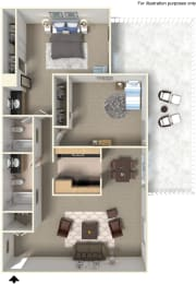 Floor Plan 905847 at Stoneridge Apartment Homes Upland, CA