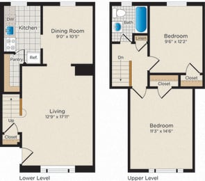 Floor Plan T01 Townhouse - South