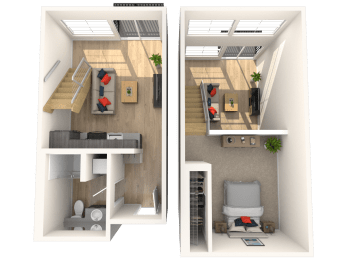 Floor Plan 2 Story Loft