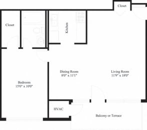 Camp Hill 1 Bed 1 Bath Apartment | Long Meadows Apartments | Property Management, Inc.
