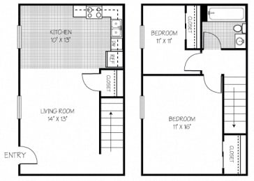 2 Bed Apt in Shippensburg | Bard Townhouses