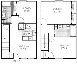 3 Bed Apt in Shippensburg | Bard Townhouses