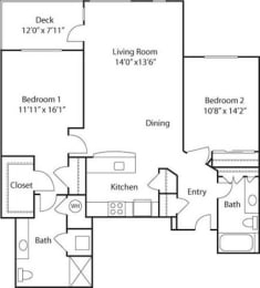 C4A- 55+ Adult Living Floorplan at Reunion at Redmond Ridge, Redmond, WA