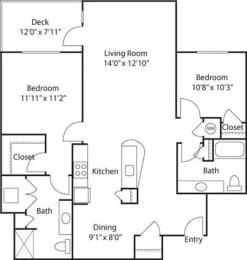 C9- 55+ Adult Living Floorplan at Reunion at Redmond Ridge, 11315 Trilogy Pkwy NE