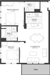 Floor Plan at Park87, Cambridge, 02138