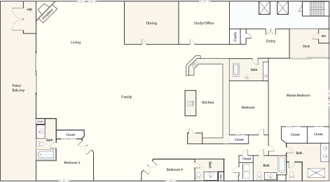 Floor Plan Bourbon Red