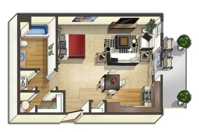 Pudre Floor Plan at The Trails at Timberline, Fort Collins, CO