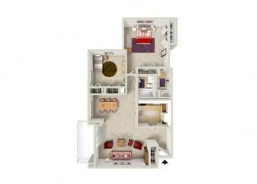 Floor Plan 2B 2BA (K)