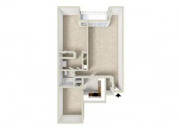 Floor Plan 1BR-1BA DEN