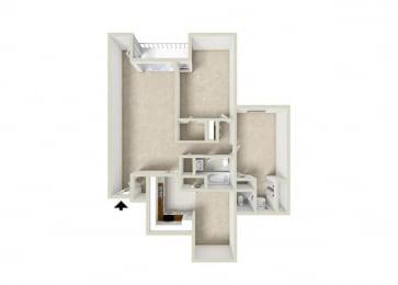 Floor Plan 2 BR-1.5 BA
