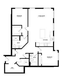 Floor Plan B-9 Two Bedroom/Two Bath