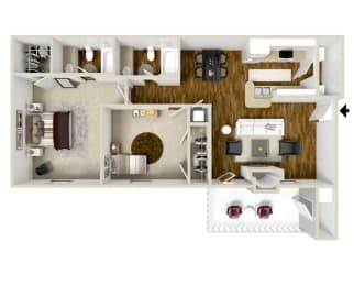 Floor Plan Two Bedroom A