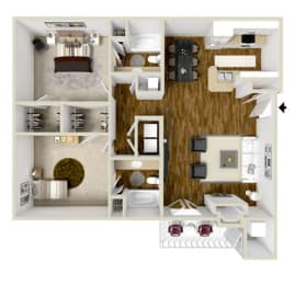 Floor Plan Two Bedroom B