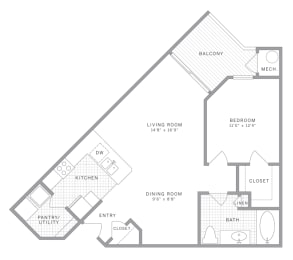 A3 Floor Plan at AVE Union, Union, New Jersey
