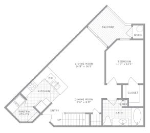 A3 Loft Floor Plan at AVE Union, Union