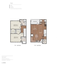 E1 Floor Plan at Berkshire Medical District, Dallas