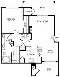 A5 Floor Plan at San Marin, Texas