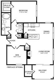 A6 Floor Plan at San Marin, Texas, 78759