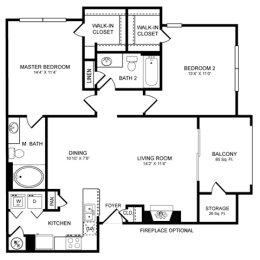D5 Floor Plan at San Marin, Texas, 78759