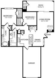 D3 Floor Plan at San Marin, Austin