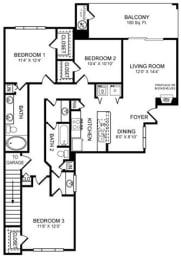 H1 Floor Plan at San Marin, Texas
