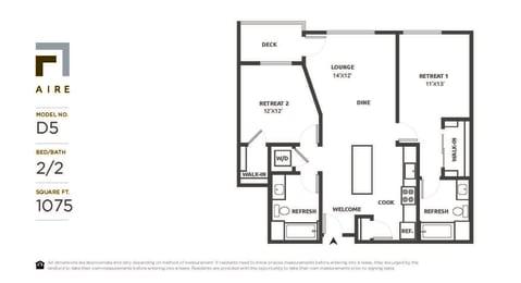 D5 Floor Plan at Aire, San Jose, CA