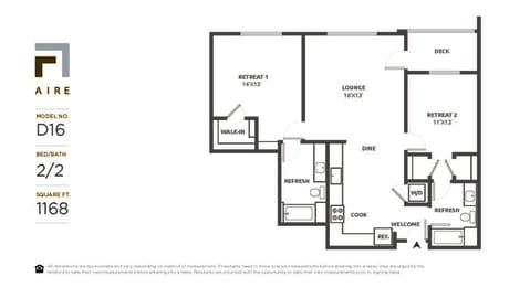 D16 Floor Plan at Aire, San Jose, California