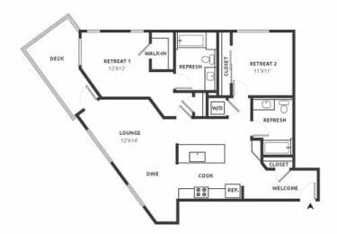 D17 Floor Plan at Aire, San Jose, 95134