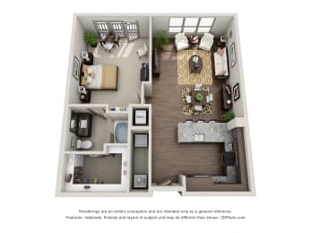 A5-1 Floor Plan at ALARA Uptown, Dallas, TX, 75204