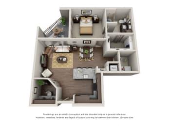 A7-1 Floor Plan at ALARA Uptown, Dallas, 75204