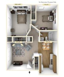 Floor Plan Haven Two Bedroom