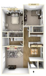 Devonshire Two Bedroom Floor Plan at Windsor Place, Davison