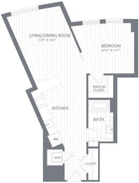 A1 Floor Plan at Element 28, Bethesda