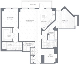 B5 Floor Plan at Element 28, Bethesda