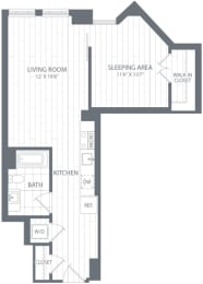 S2 Floor Plan at Element 28, Bethesda, MD, 20814